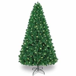 Shareconn Premium Künstlicher Weihnachtsbaum mit Stabilem Ständer mit 1602 Spitzen und 470 Beleuchtung LED, Tannenbaum inkl. Metall Christbaum Ständer 7.5ft - 1