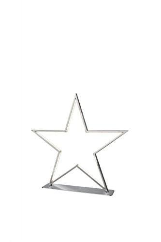 Sompex Deko- / Tischleuchte Lucy LED Weihnachtsstern, chrom - Höhe 33cm - 1