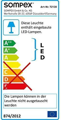 Sompex Deko- / Tischleuchte Lucy LED Weihnachtsstern, chrom - Höhe 33cm - 2