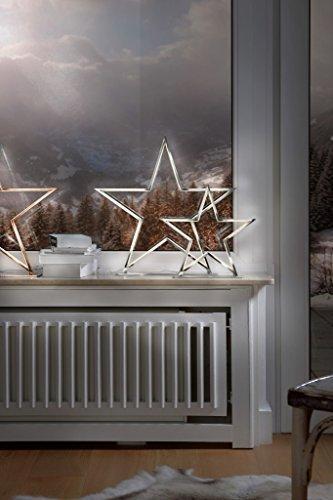 Sompex Deko- / Tischleuchte Lucy LED Weihnachtsstern, chrom - Höhe 33cm - 3