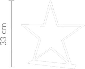Sompex Deko- / Tischleuchte Lucy LED Weihnachtsstern, chrom - Höhe 33cm - 4