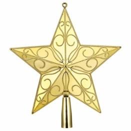 STOBOK Weihnachtsbaum Stern Spitze Christmas Tree Topper 20cm Weihnachtsstern Christbaumspitze Baumschmuck (Gold) - 1