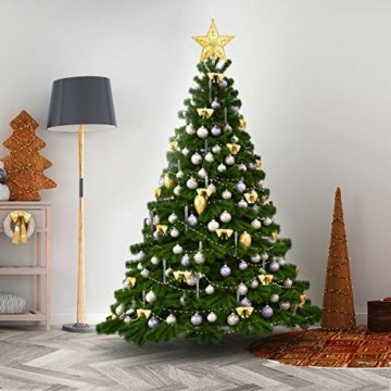 STOBOK Weihnachtsbaum Stern Spitze Christmas Tree Topper 20cm Weihnachtsstern Christbaumspitze Baumschmuck (Gold) - 7