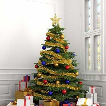 STOBOK Weihnachtsbaum Stern Spitze Christmas Tree Topper 20cm Weihnachtsstern Christbaumspitze Baumschmuck (Gold) - 8