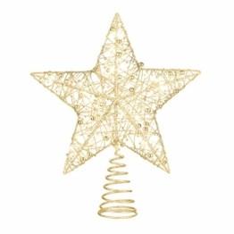 STOBOK Weihnachtsbaumspitze, Weihnachtsdekoration, Glitzer, LED-Beleuchtung, Stern (25 x 30 cm) für Party, Einkaufszentrum, Zuhause, Büro - 1
