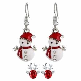 STYLEEA Frauen Weihnachtshaken-Tropfen baumeln Ohrring-Charme Eardrop Schmucksache-WeihnachtsPartei Anhänger Hoop Geschenke für Frauen - 1