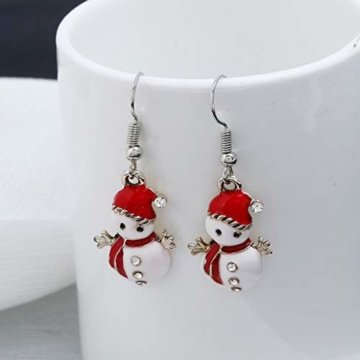 STYLEEA Frauen Weihnachtshaken-Tropfen baumeln Ohrring-Charme Eardrop Schmucksache-WeihnachtsPartei Anhänger Hoop Geschenke für Frauen - 4