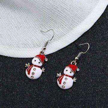 STYLEEA Frauen Weihnachtshaken-Tropfen baumeln Ohrring-Charme Eardrop Schmucksache-WeihnachtsPartei Anhänger Hoop Geschenke für Frauen - 5