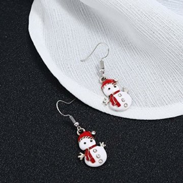 STYLEEA Frauen Weihnachtshaken-Tropfen baumeln Ohrring-Charme Eardrop Schmucksache-WeihnachtsPartei Anhänger Hoop Geschenke für Frauen - 8