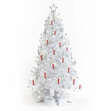 SunJas 20er Rot Weinachten Kerzen Weihnachtsbeleuchtung Weihnachtskerzen mit Fernbedienung kabellos Weihnachtsbaumkerzen 10/20/30/40er - 5