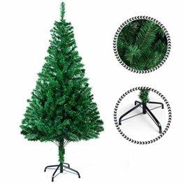 SunJas Weihnachtsbaum, 120/150/180/210 cm Grün, künstlicher Tannenbaum, schwer entflammbar und Kunsttanne mit Metallständer, hochwertiger Christmas tree (180cm) - 1