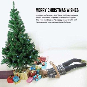 SunJas Weihnachtsbaum, 120/150/180/210 cm Grün, künstlicher Tannenbaum, schwer entflammbar und Kunsttanne mit Metallständer, hochwertiger Christmas tree (180cm) - 4