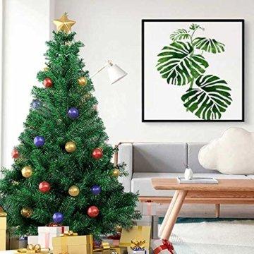 SunJas Weihnachtsbaum, 120/150/180/210 cm Grün, künstlicher Tannenbaum, schwer entflammbar und Kunsttanne mit Metallständer, hochwertiger Christmas tree (180cm) - 7