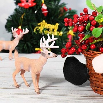 SUPVOX 6pcs White-Tailed Deer Figuren Ornamente Tierfiguren Sammlung Spielzeug Home Office Dekoration Handwerk Geschenk - 6