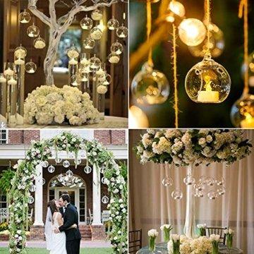 Sziqiqi 12 Stücke Kreative Haus Hängende Glasball Romantische Kerzenständer Hochzeit Geburtstag Fest Deko, 12 Stücke - 4