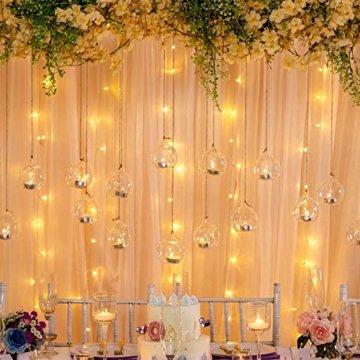 Sziqiqi 12 Stücke Kreative Haus Hängende Glasball Romantische Kerzenständer Hochzeit Geburtstag Fest Deko, 12 Stücke - 6