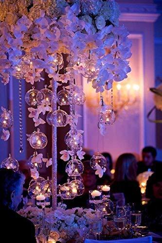 Sziqiqi 12 Stücke Kreative Haus Hängende Glasball Romantische Kerzenständer Hochzeit Geburtstag Fest Deko, 12 Stücke - 9