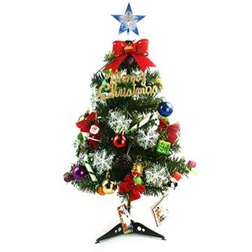 Tinksky Ausgehöhlter Weihnachtsbaum Top Schein Stern Glitzernder hängender Weihnachtsbaum Topper Dekoration Ornamente Wohnkultur (silbrig blau) - 4