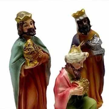 ToCi Krippenfiguren Set mit 9 Figuren (11 cm) für die traditionelle Weihnachts Krippe - 3