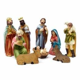 ToCi Krippenfiguren Set mit 9 Figuren (11 cm) für die traditionelle Weihnachts Krippe - 1