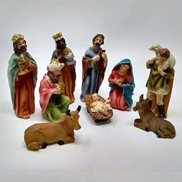 ToCi Krippenfiguren Set mit 9 Figuren (11 cm) für die traditionelle Weihnachts Krippe - 4