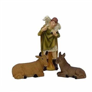 ToCi Krippenfiguren Set mit 9 Figuren (11 cm) für die traditionelle Weihnachts Krippe - 5