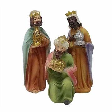 ToCi Krippenfiguren Set mit 9 Figuren (11 cm) für die traditionelle Weihnachts Krippe - 7
