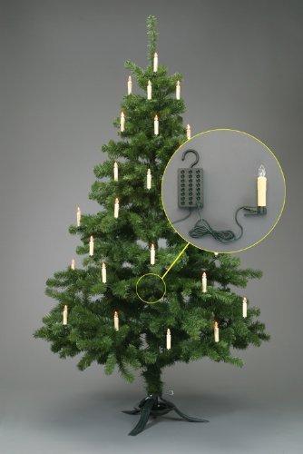 Trango TG340146 24x LED Weihnachtskerzen mit Stecksystem Innenbereich warm-weiß - 2