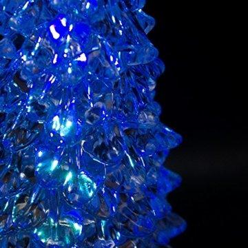 Tronje LED Christbaum 22cm Weihnachtsbaum mit Timer USB Tannenbaum beleuchteter Acrylbaum Wechselfarben - 3