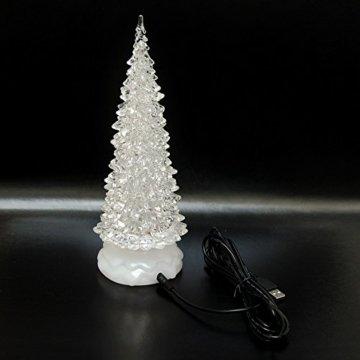 Tronje LED Christbaum 22cm Weihnachtsbaum mit Timer USB Tannenbaum beleuchteter Acrylbaum Wechselfarben - 4