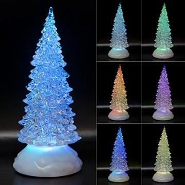 Tronje LED Christbaum 22cm Weihnachtsbaum mit Timer USB Tannenbaum beleuchteter Acrylbaum Wechselfarben - 1