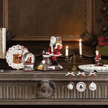 Villeroy & Boch Christmas Toys Memory Santa auf Dach, dekorative Weihnachtsmann-Figur aus Hartporzellan, bunt - 2