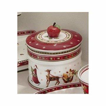 Villeroy & Boch Winter Bakery Delight Kleine Vorratsdose für Gebäck, Premium Porzellan, bunt - 3
