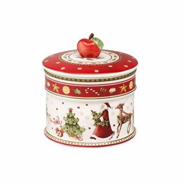 Villeroy & Boch Winter Bakery Delight Kleine Vorratsdose für Gebäck, Premium Porzellan, bunt - 1