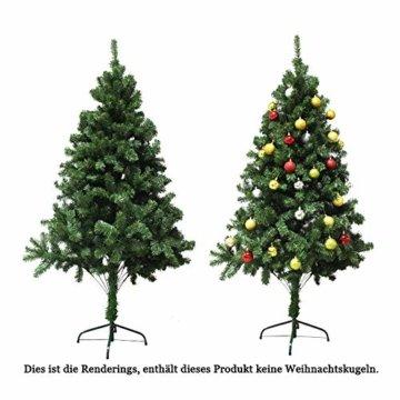 VINGO Künstlicher Weihnachtsbaum 120cm ca. 200 Grün Tannenbaum Weihnachtsdeko schwer entflammbar,inkl. Plastikständer für den Weihnachtsdekoration - 3