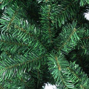 VINGO Künstlicher Weihnachtsbaum 120cm ca. 200 Grün Tannenbaum Weihnachtsdeko schwer entflammbar,inkl. Plastikständer für den Weihnachtsdekoration - 5