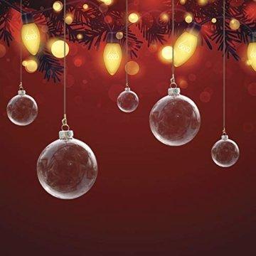 Warmiehomy 5 x Christbaumkugeln aus klarem Glas befüllbare Ornamente für Weihnachten Party Geburtstag Hochzeit Dekoration, Glas, farblos, 8cm - 2
