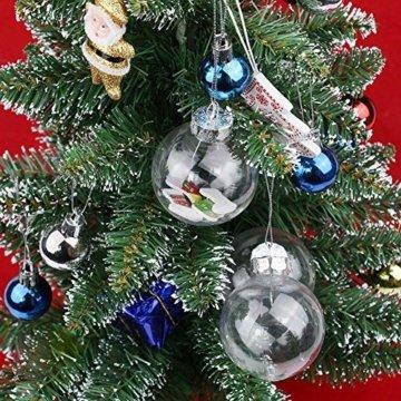 Warmiehomy 5 x Christbaumkugeln aus klarem Glas befüllbare Ornamente für Weihnachten Party Geburtstag Hochzeit Dekoration, Glas, farblos, 8cm - 5