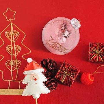 Warmiehomy 5 x Christbaumkugeln aus klarem Glas befüllbare Ornamente für Weihnachten Party Geburtstag Hochzeit Dekoration, Glas, farblos, 8cm - 7