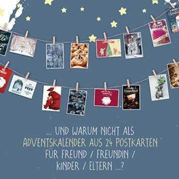 WEIHNACHTEN: 24 schöne POSTKARTEN | Schöne Bilder/Motive | Sprüche/Texte | Merry Christmas | Winter | Fest | Xmas | Karten-Mix | Geschenk | Tiere | Süß | Spruch | Liebe | Grußkarte | Deko - 5