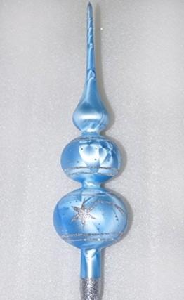 Weihnachtsbaumspitze Groß 35cm in Ice Blau Silber Komet Baumspitze Spitze Tannenbaumspitze Christbaumspitze Weihnachtsbaum Christbaum Tannenbaum Christmas Tree Top - 1
