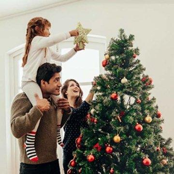Weihnachtsbaumspitze, Star Baumspitze Lichtern, Stern Baum Top Projektor Verstellbarer Winkel 3D Star Projektor Lichter, Weihnachtsbaumspitze Dekoration Für Weihnachten, Party, Festival, Innendekorati - 3