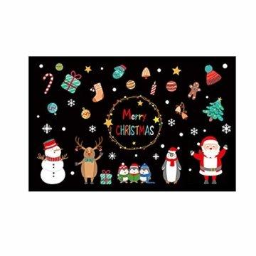 Weihnachtsdeko Fensteraufkleber Schneeflocken Fensterdeko Fensterbilder für Weihnachts Winter- Dekoration Weihnachten Fensterbilder Schneemann Rentier Fensterbilder Aufkleber Aufkleber Weihnachten - 5