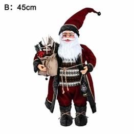 Weihnachtsmann Figurenpuppe 30/45cm Weihnachtsfigur Weihnachtsdeko Weihnachtsschmuck, Roten Robe-Verzierung, Weihnachten für Kinderfamilie und Freunde - 1