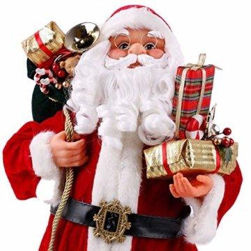 Weihnachtsmann Viggo 60 cm Höhe Dekofigur zu Weihnachten handgefertigt - 3