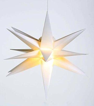 Weihnachtsstern Ø 58 cm warm-weiß LED Stern zum Aufhängen für die Weihnachtsbeleuchtung innen und außen - 2