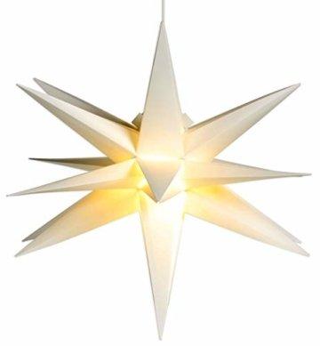 Weihnachtsstern Ø 58 cm warm-weiß LED Stern zum Aufhängen für die Weihnachtsbeleuchtung innen und außen - 1