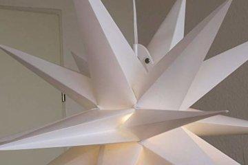 Weihnachtsstern Ø 58 cm warm-weiß LED Stern zum Aufhängen für die Weihnachtsbeleuchtung innen und außen - 5