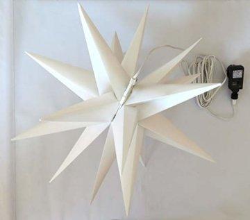 Weihnachtsstern Ø 58 cm warm-weiß LED Stern zum Aufhängen für die Weihnachtsbeleuchtung innen und außen - 6