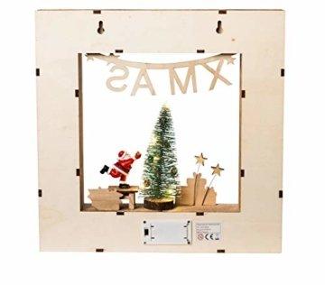 Wichtelstube-Kollektion Adventskalender Weihnachtsbaum Holz zum befüllen, wiederverwendbar, LED Beleuchtung ca. 35cm - 4